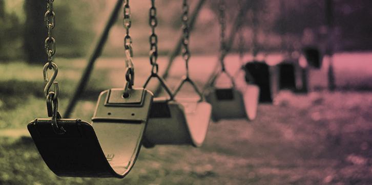 Empty Swings at Dusk